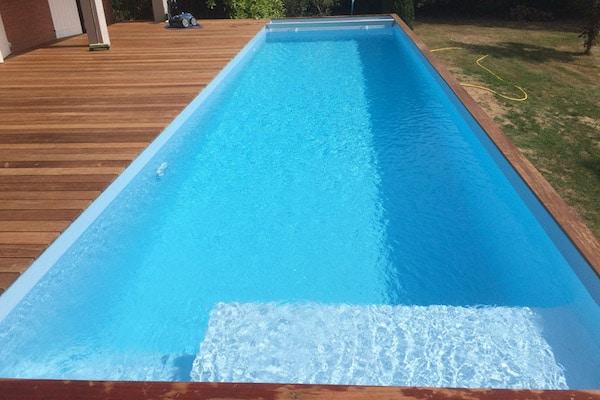 Couloir de nage bois